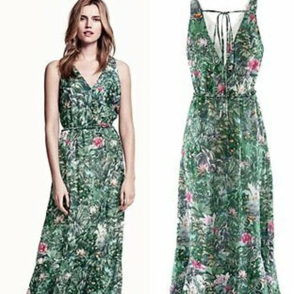 H&M Dresses & Skirts - H&M Conscious Collection Floral Maxi Dress Size 6